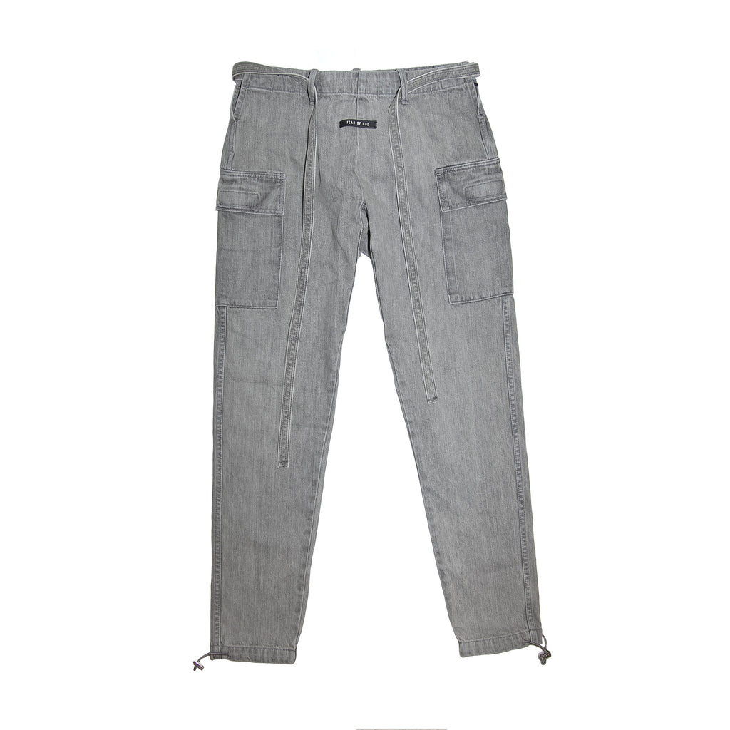 6TH COLLECTION JIUJITSU PANT - GOD GREY DENIM