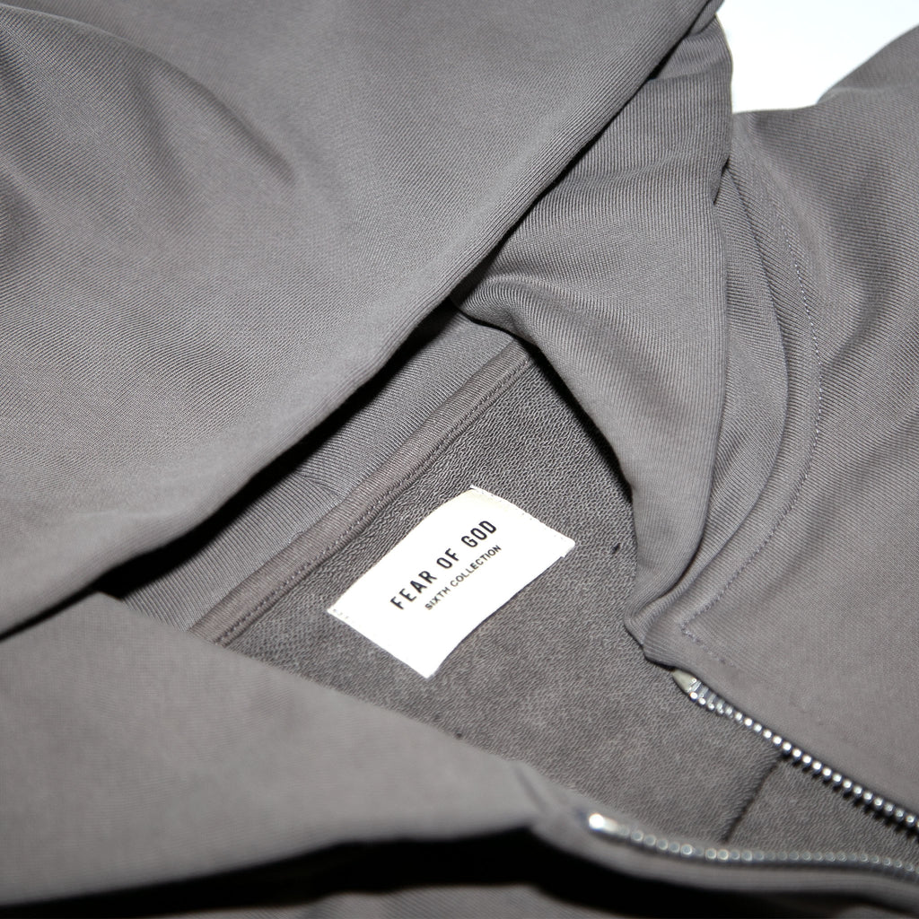6TH COLLECTION EVERYDAY FULL ZIP HOODIE - GOD GREY