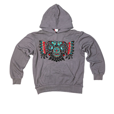 WAYNE BEADED HOODIE - FADED BLACK