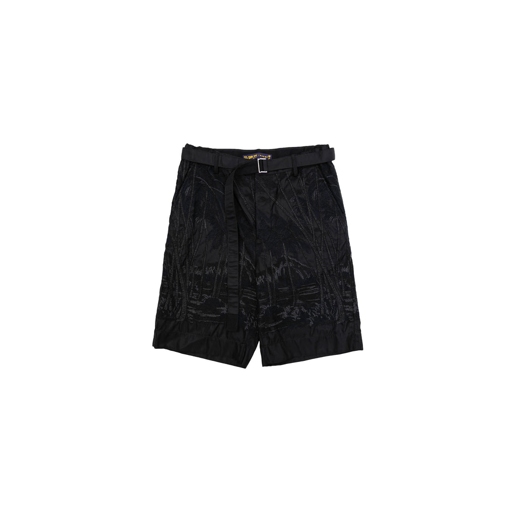 SUN SURF / DIAMOND HEAD EMBROIDERY SHORTS - BLACK