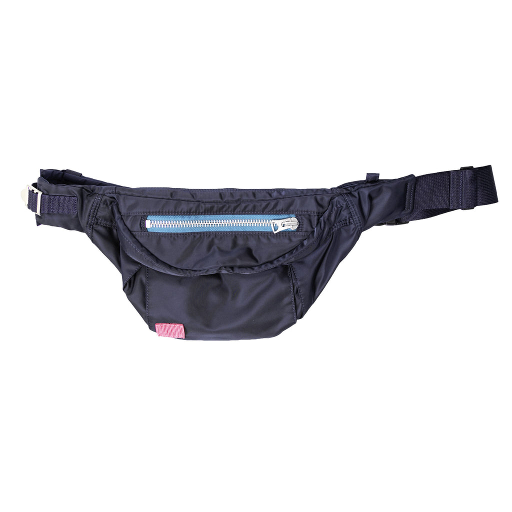 PORTER NYLON WAIST BAG - NAVY