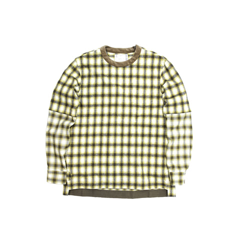 OMBRE CHECK PULLOVER - YELLOW