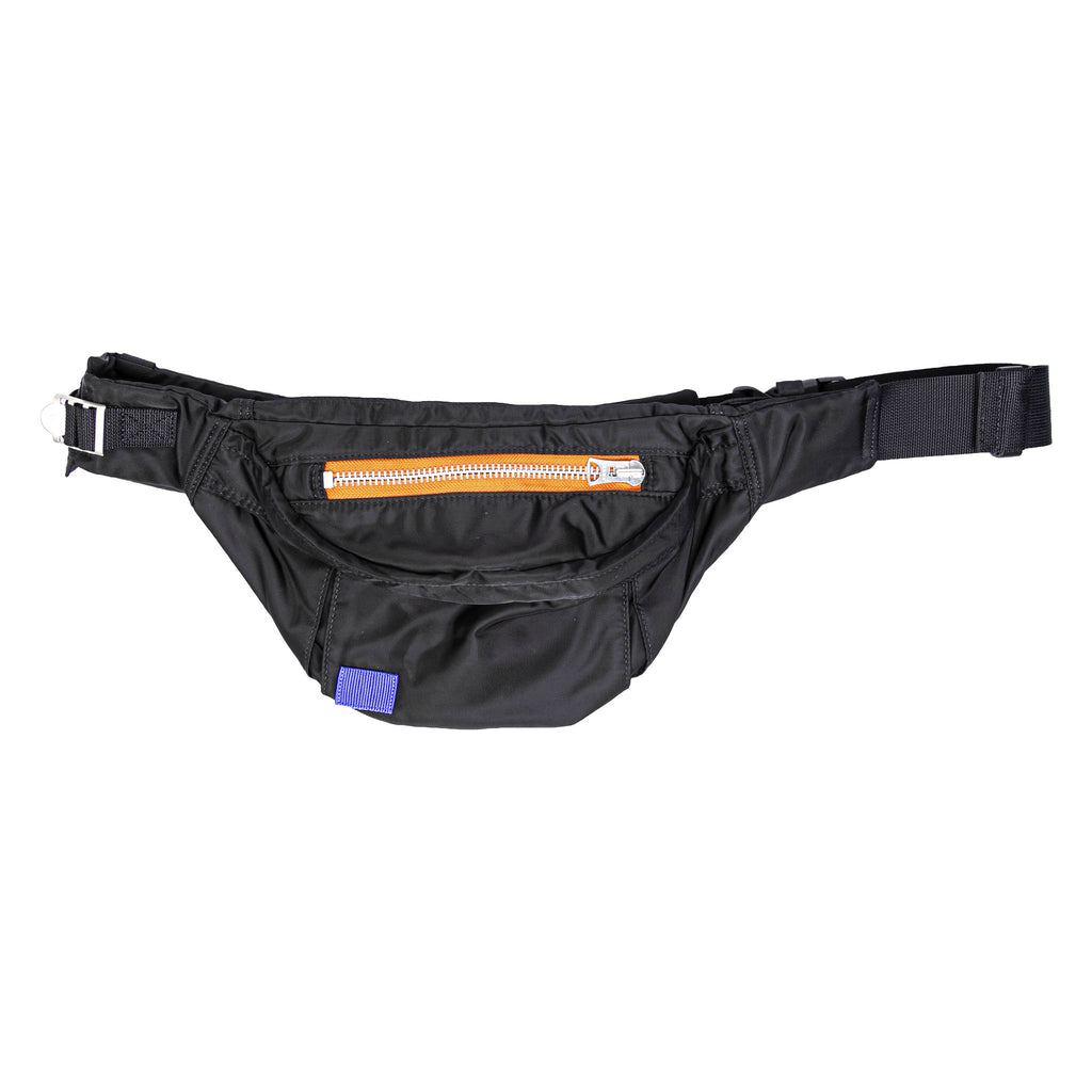 PORTER NYLON WAIST BAG - BLACK