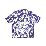 HAWAIIAN BOWLING SHIRT - BLUE/ WHITE