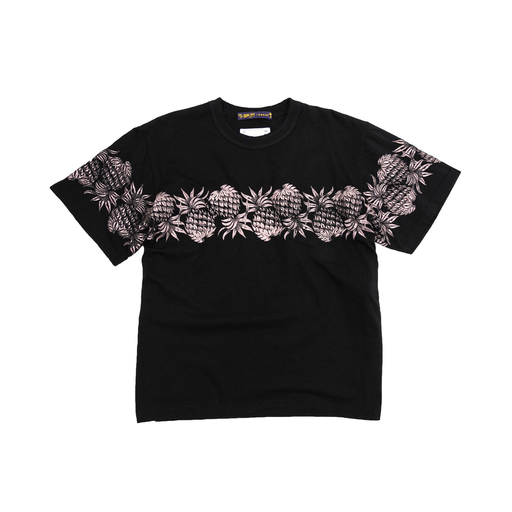SUN SURF/ PINEAPPLE EMBROIDERY TSHIRT - NAVY