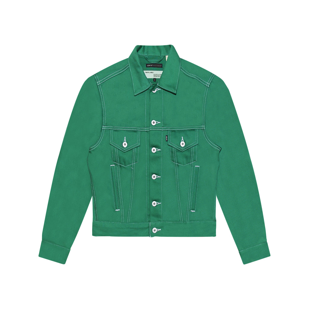 LEVI'S MADE & CRAFTED BASIC TRUCKER JAKET - GREEN
