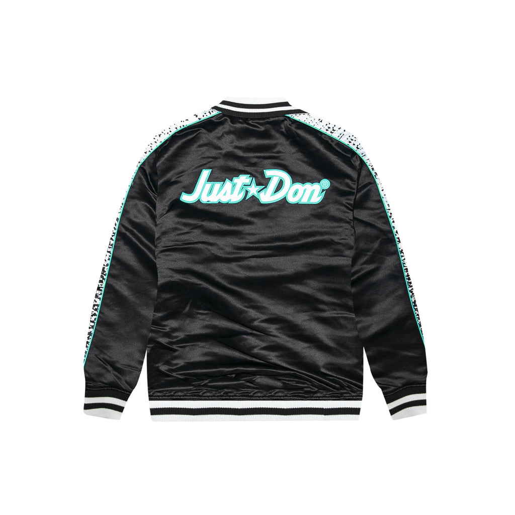 NBA JAM SATIN JACKET - BLACK