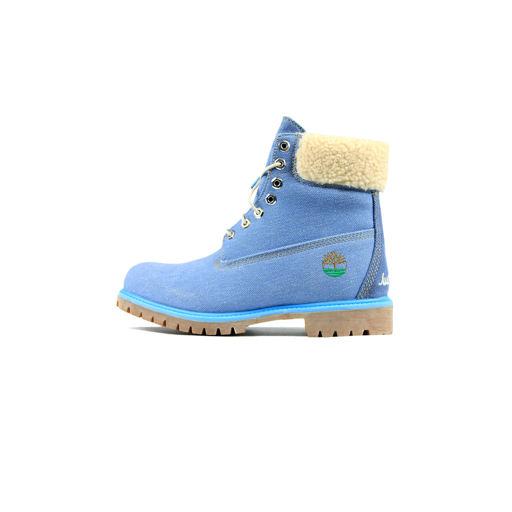 bdd5a7b52248c7 JUST DON x TIMBERLAND PREMIUM 6 INCH BOOTS - BLUE – Creme321