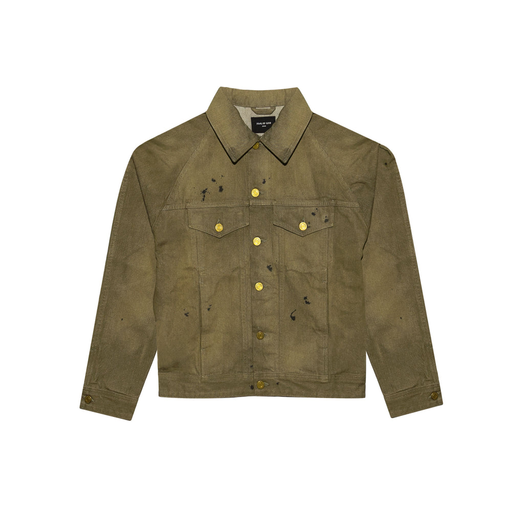 SELVEDGE DENIM TRUCKER JACKET - VINTAGE GOLD