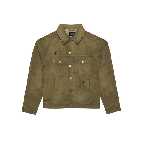 5TH COLLECTION SELVEDGE DENIM TRUCKER JACKET - VINTAGE GOLD