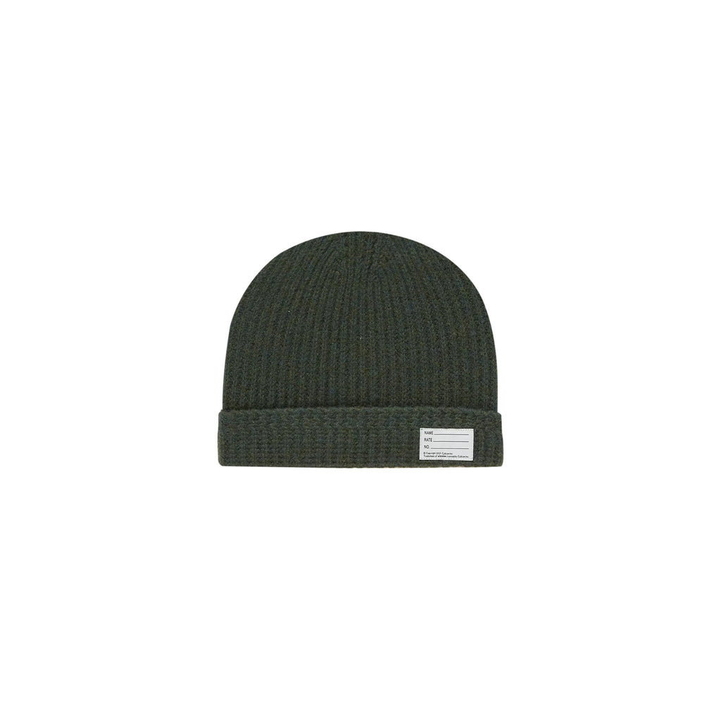 WOOL KNIT BEANIE - OLIVE