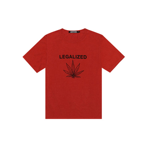 LEGALIZED VINTAGE TEE - RED