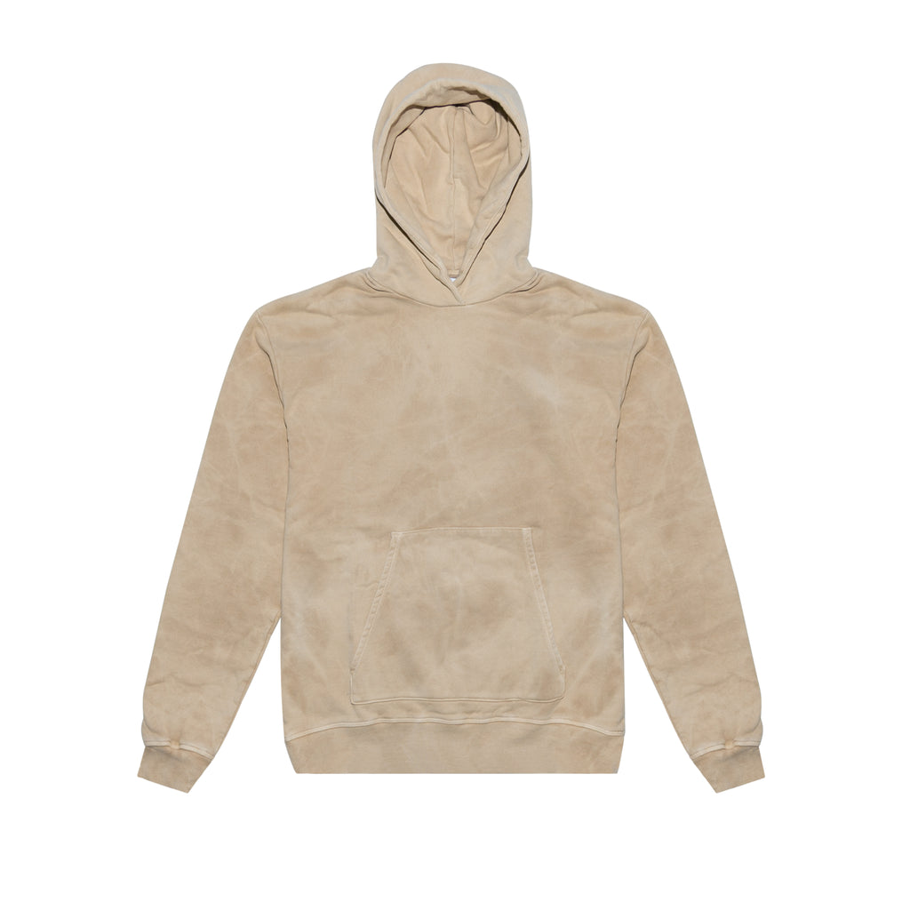 OVERSIZED CROPPED HOODIE - TAN