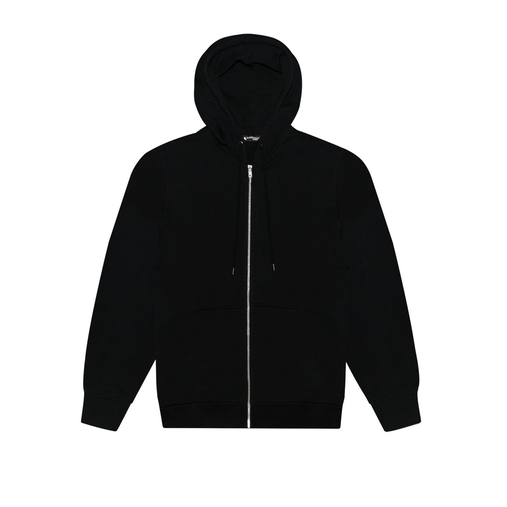 MASTERMIND WORLD ZIP UP HOODY WITH CIRCULAR LOGO - BLACK