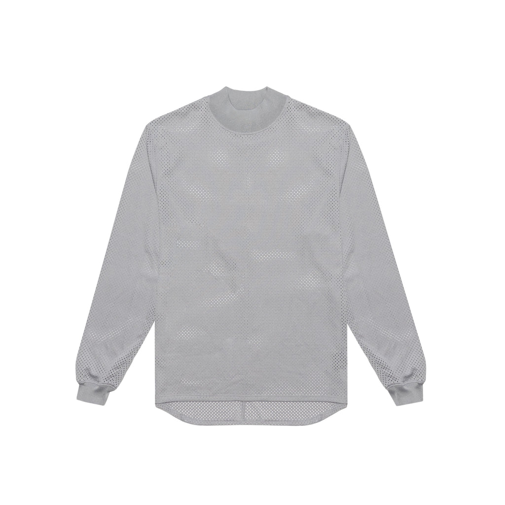 5TH COLLECTION MESH LONG SLEEVE TEE - GREY