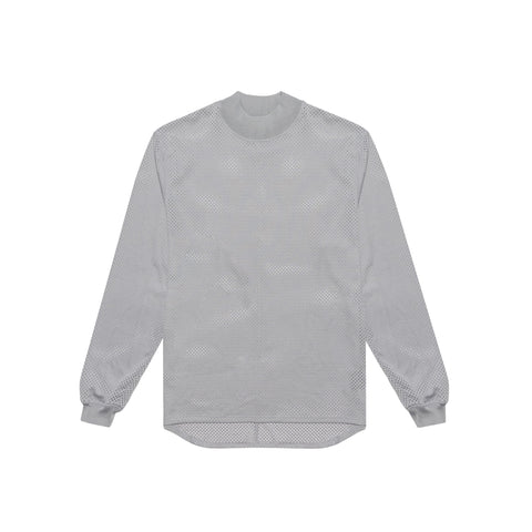 MESH LONG SLEEVE TEE - GREY