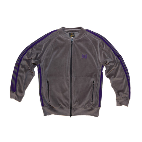 RIP COLLAR TRACK JACKET C/RE VELOUR - GREY