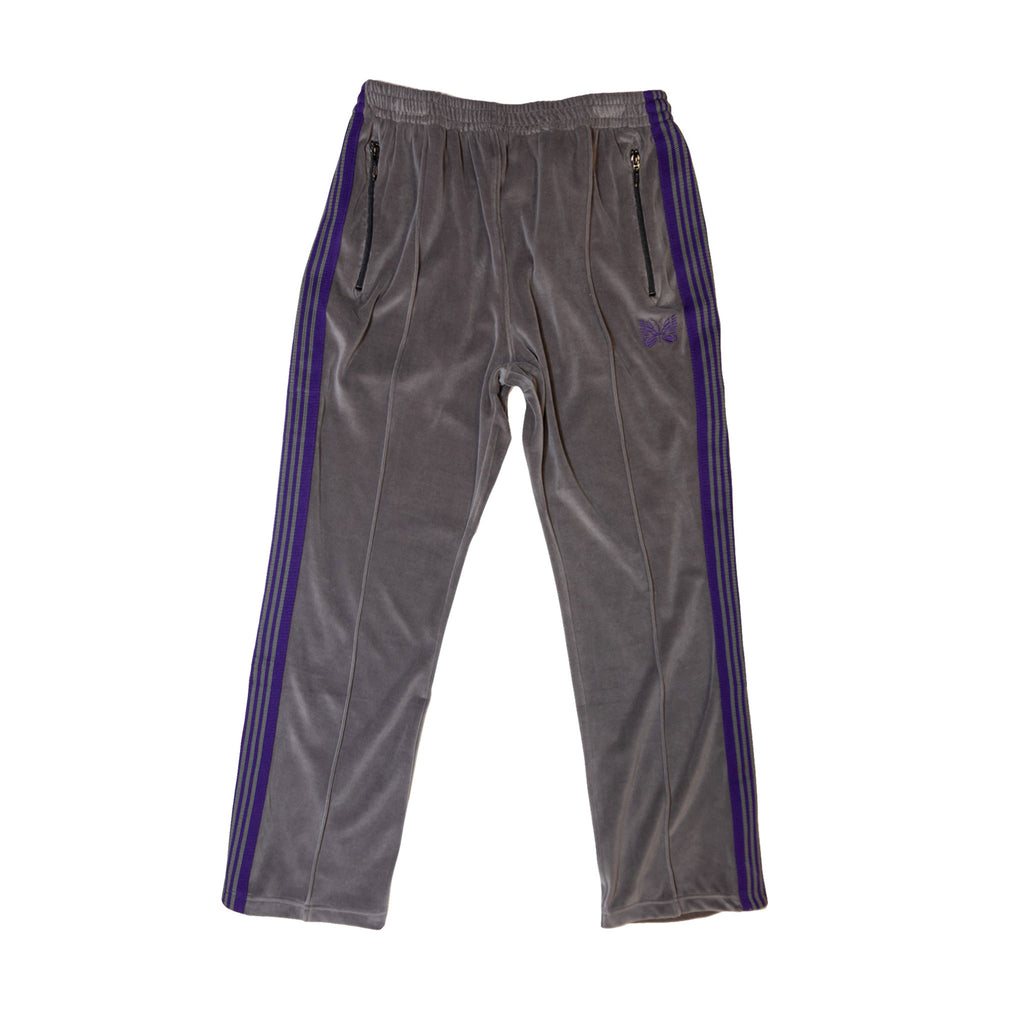 NARROW TRACK PANT C/PE VELOUR - GREY