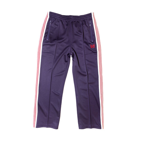 NEEDLES TRACK PANT POLY SMOOTH - EGGPLANT