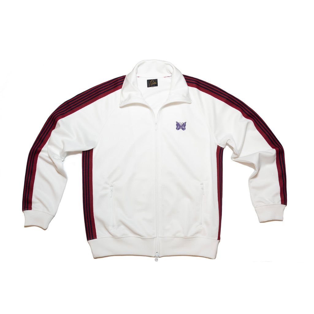 NEEDLES TRACK JACKET POLY SMOOTH - WHITE