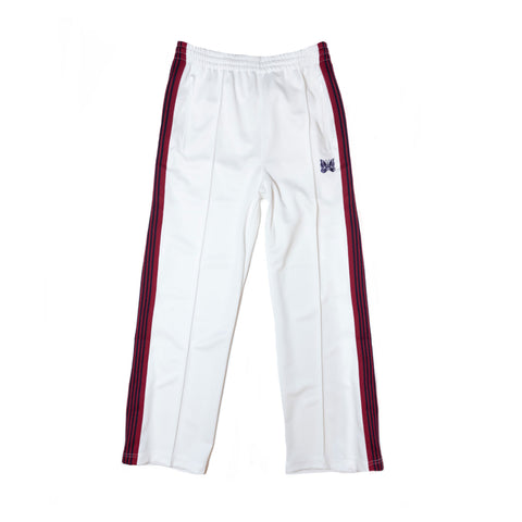 NEEDLES TRACK PANT POLY SMOOTH - WHITE