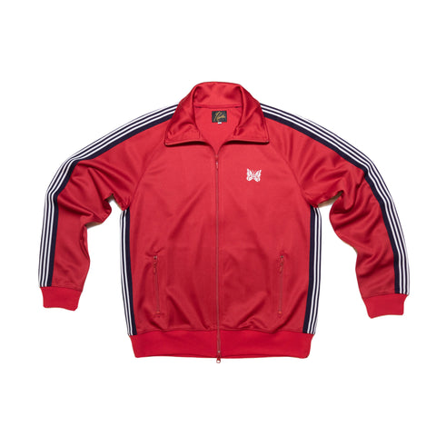 NEEDLES TRACK JACKET POLY SMOOTH - RED
