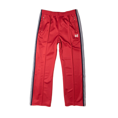 NEEDLES TRACK PANT POLY SMOOTH - RED