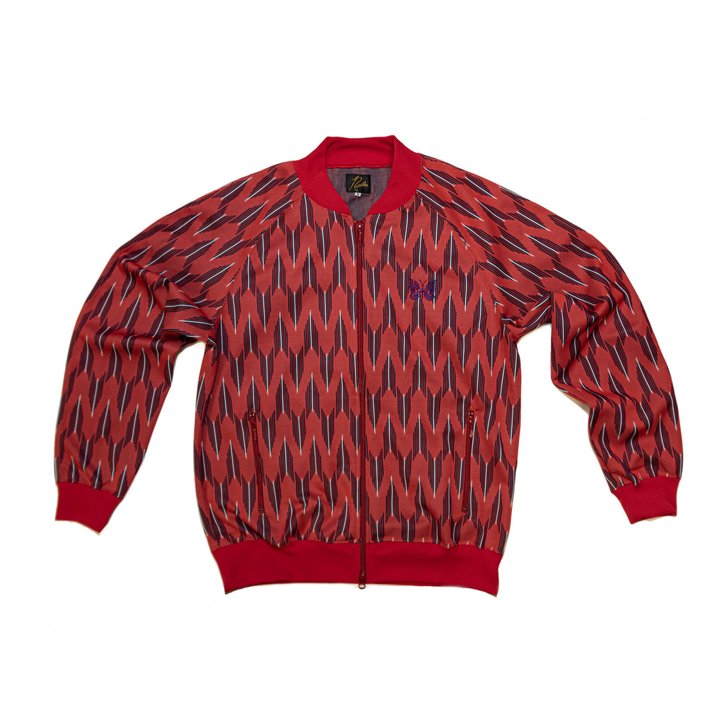 RIP COLLAR TRACK JACKET POLY - ARROW / RED
