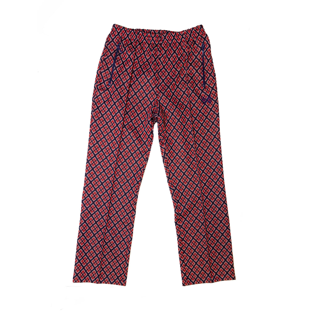 NEEDLES TRACK PANT POLY JACQUARD - DIAMOND