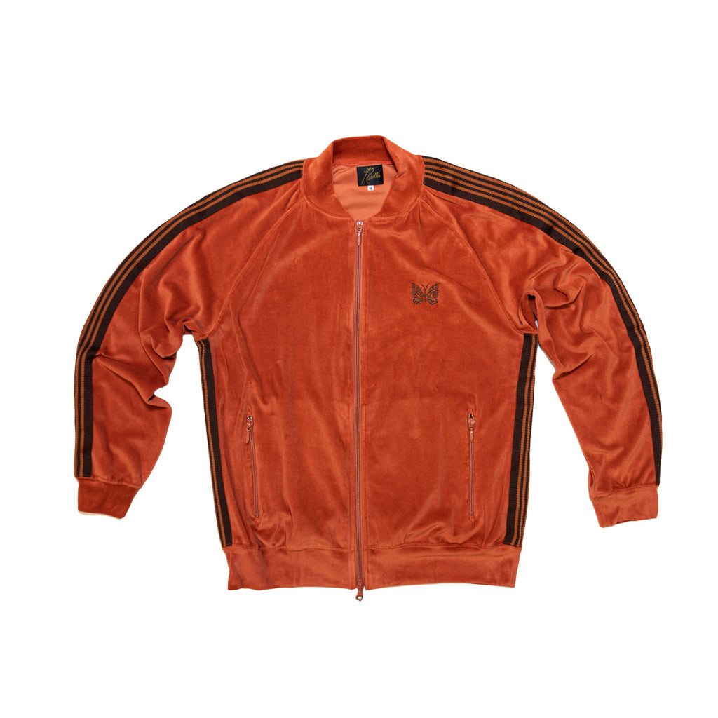 RIP COLLAR TRACK JACKET C/RE VELOUR - BRICK