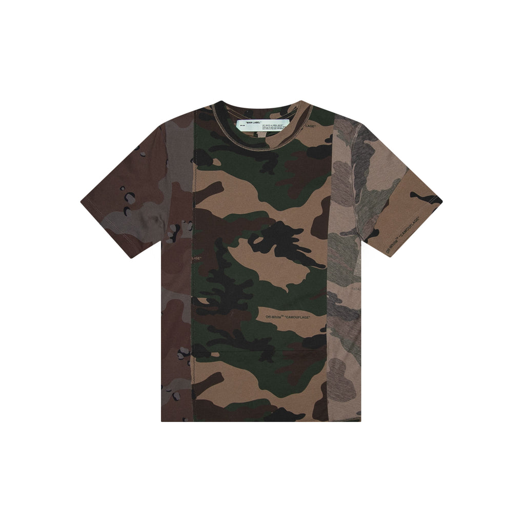 RECONSTRUCTURED CAMO T-SHIRT ALL OVER  -  ALL OVER WHITE