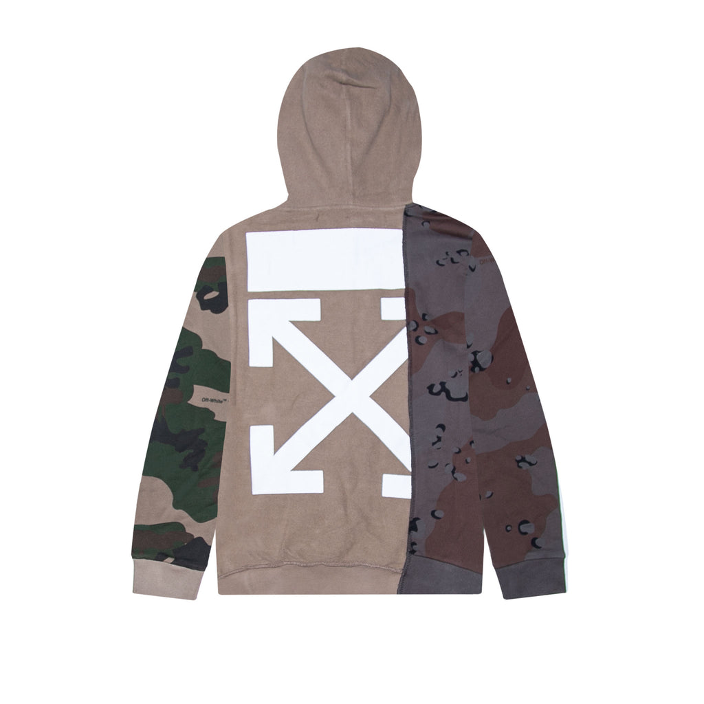 RECONSTRUCTURED CAMO HOODIE ALL OVER -  ALL OVER WHITE