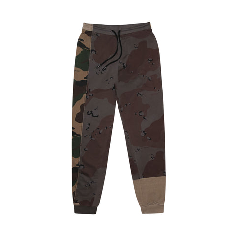 RECONSTRUCTURED CAMO SWEATPANT -  ALL OVER WHITE