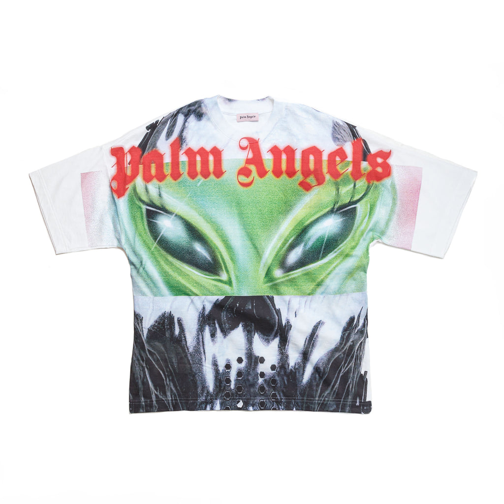 ALL OVER ALIEN TEE - WHITE/ MULTI