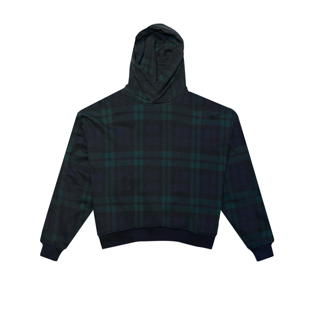 HEAVY TERRY EVERYDAY HOODIE - GREEN PLAID