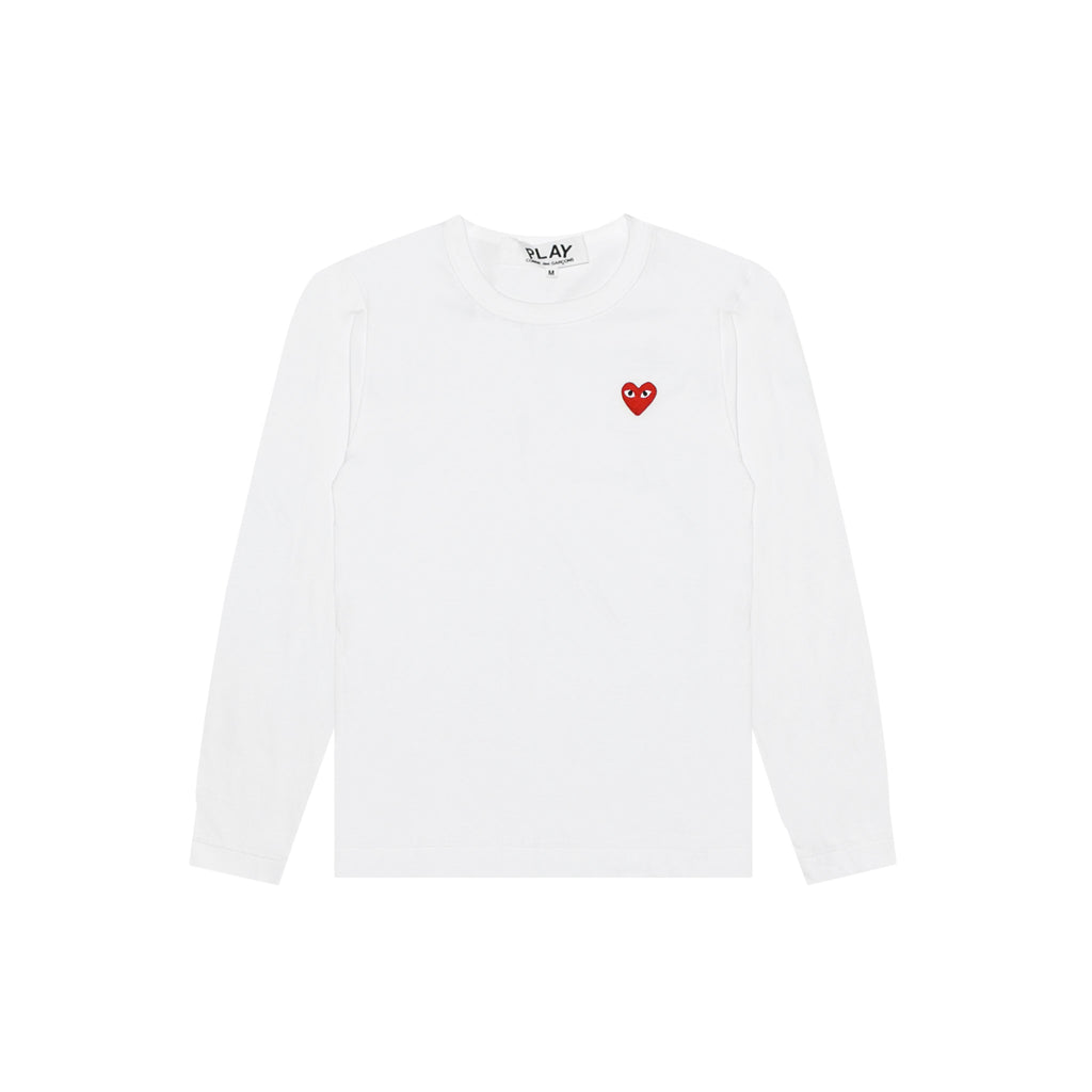 RED HEART LONG SLEEVE - WHITE