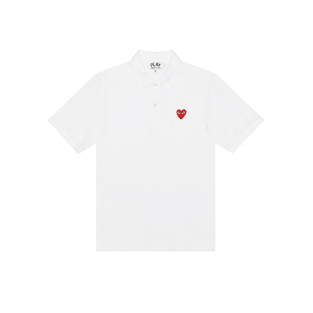 RED PLAY POLO - WHITE