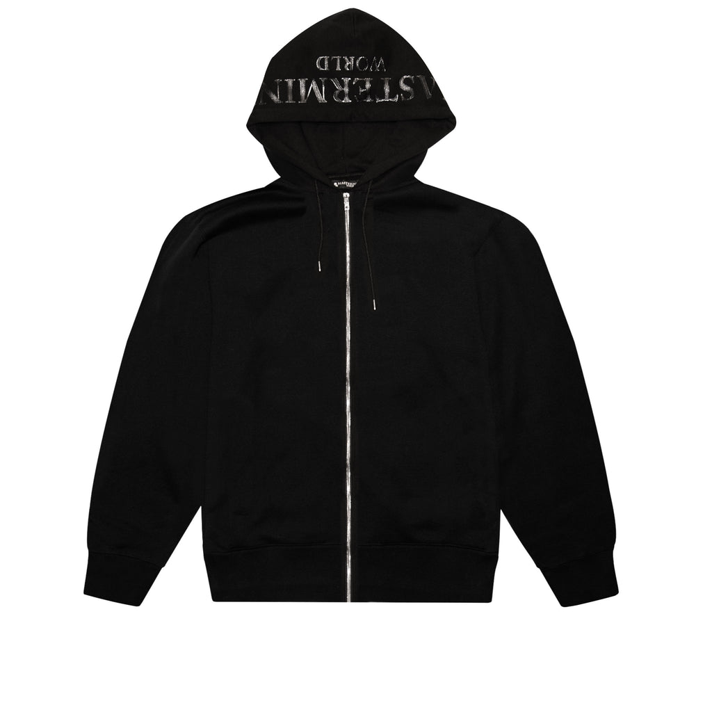 MASTERMIND WORLD ZIP UP HOODY WITH SKULL - BLACK
