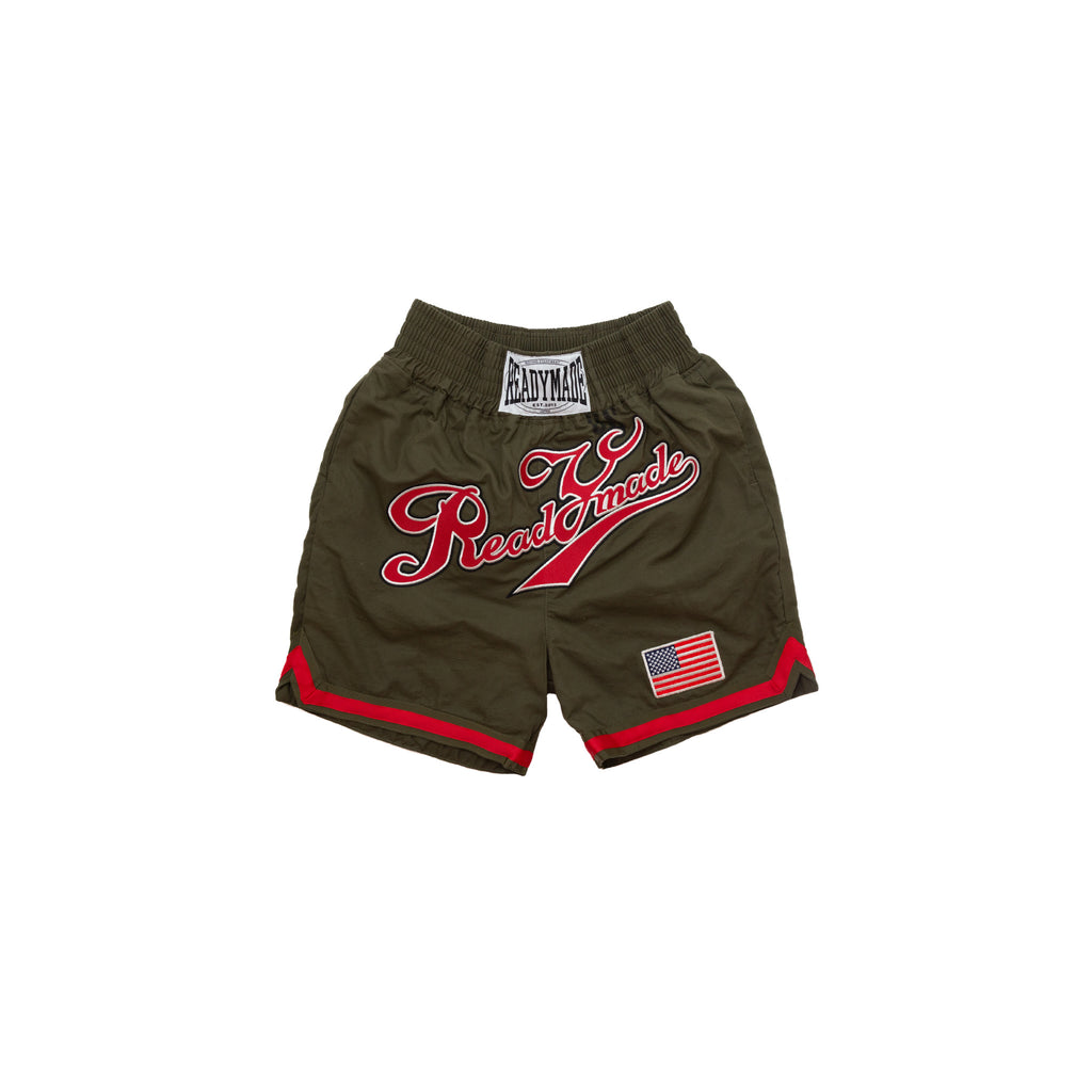 READYMADE BOXING SHORTS - GREEN