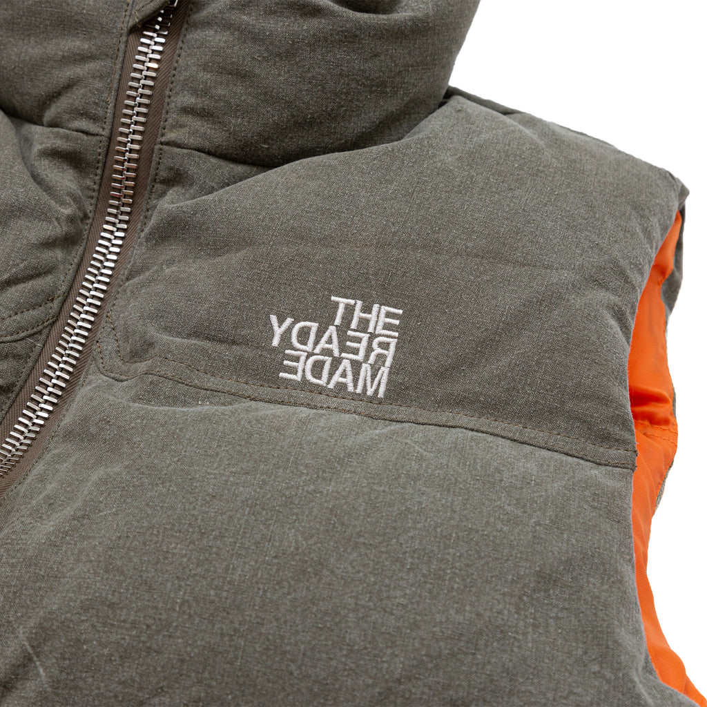 READYMADE DOWN VEST - LIGHT GREEN
