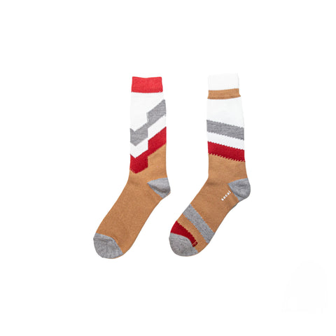 STRIPE SOCKS - OFF WHITE/ BEIGE