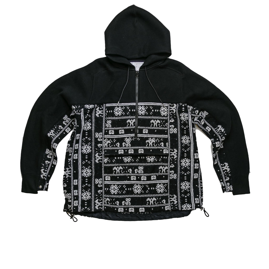 SPONGE SWEAT PULLOVER - BLACK