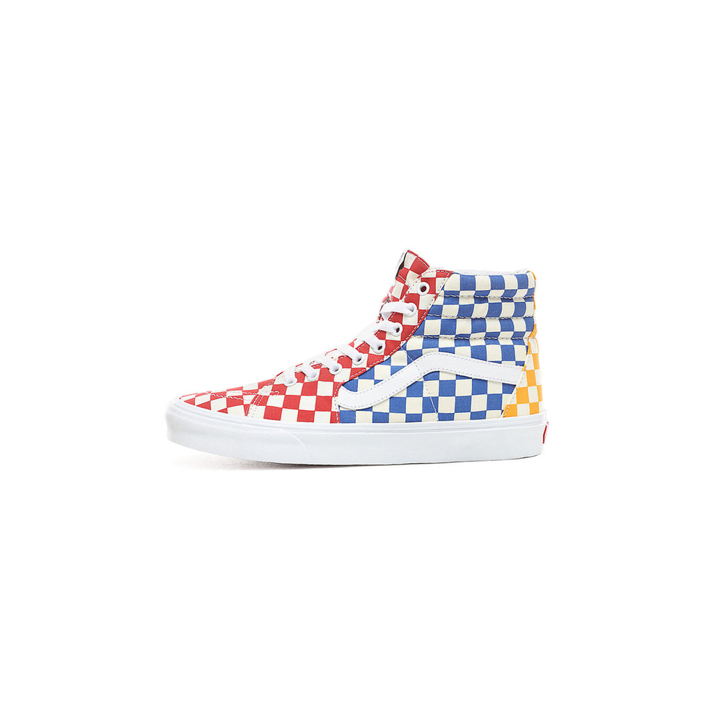 SK8-HI CHECKERBOARD - MULTI/ TRUE WHITE