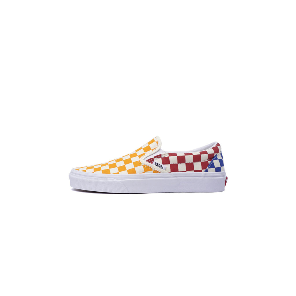 CHECKERBOARD SLIP-ON -  MULTI/ TRUE WHITE