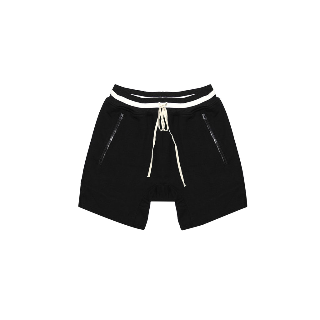 5TH COLLECTION HEAVY TERRY EVERYDAY SWEAT SHORTS - BLACK