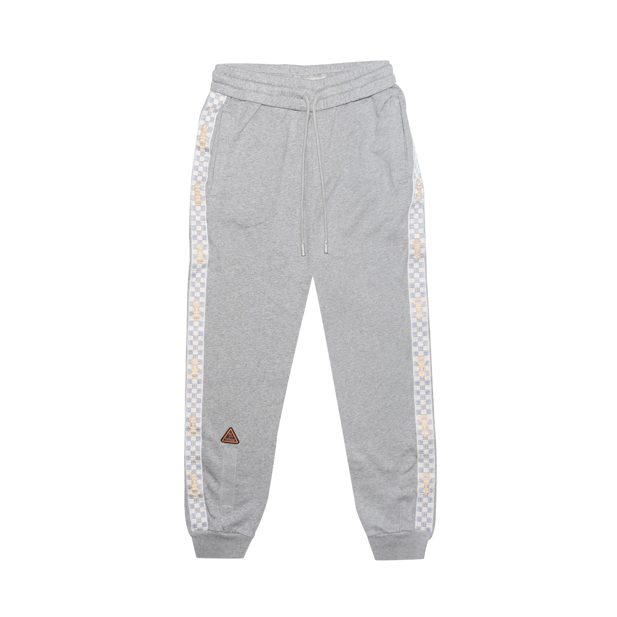 SWEATPANT WITH SIDE TAPE - MELANGE GREY