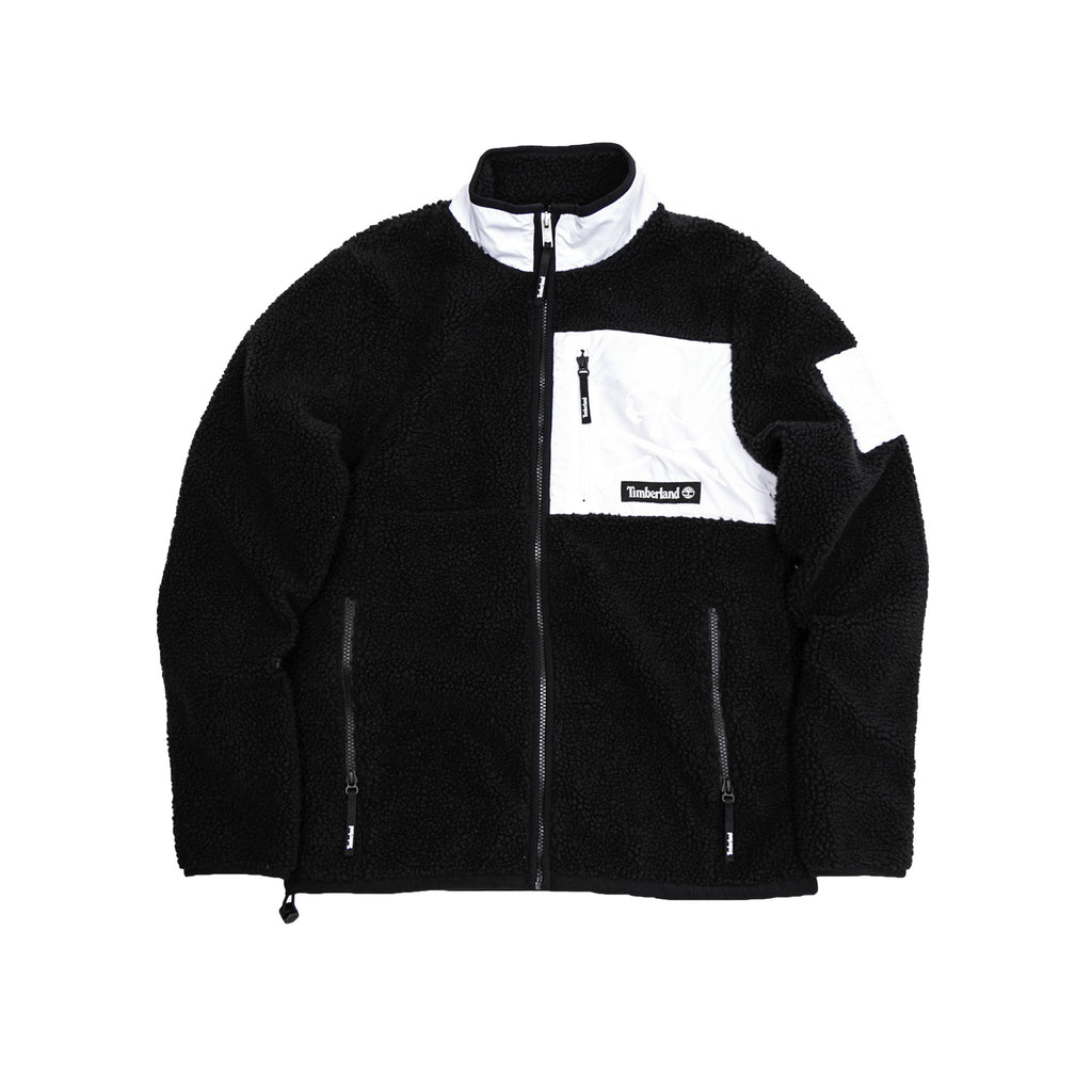 MASTERMIND WORLD x TIMBERLAND FLEECE JACKET - BLACK/WHITE