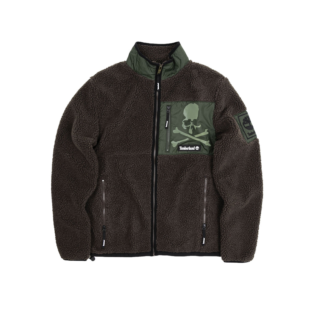 MASTERMIND WORLD x TIMBERLAND FLEECE JACKET - CHOCOLATE BROWN