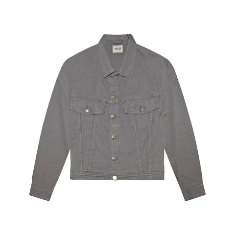 6TH COLLECTION TRUCKER JACKET - GOD GREY