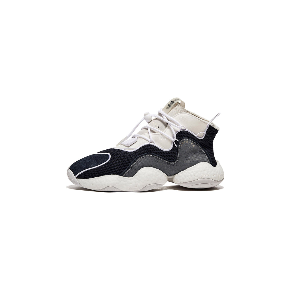 ADIDAS ORIGINALS BY BRISTOL CRAZY BYW LVL I SHOES - COLLEGIATE NAVY / RUNNING WHITE / CLOUD WHITE